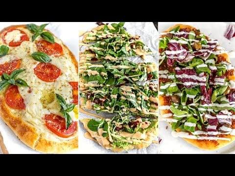 FLATBREAD PIZZA FEAST + 3 Toppings | the Italian | the California | the Greek