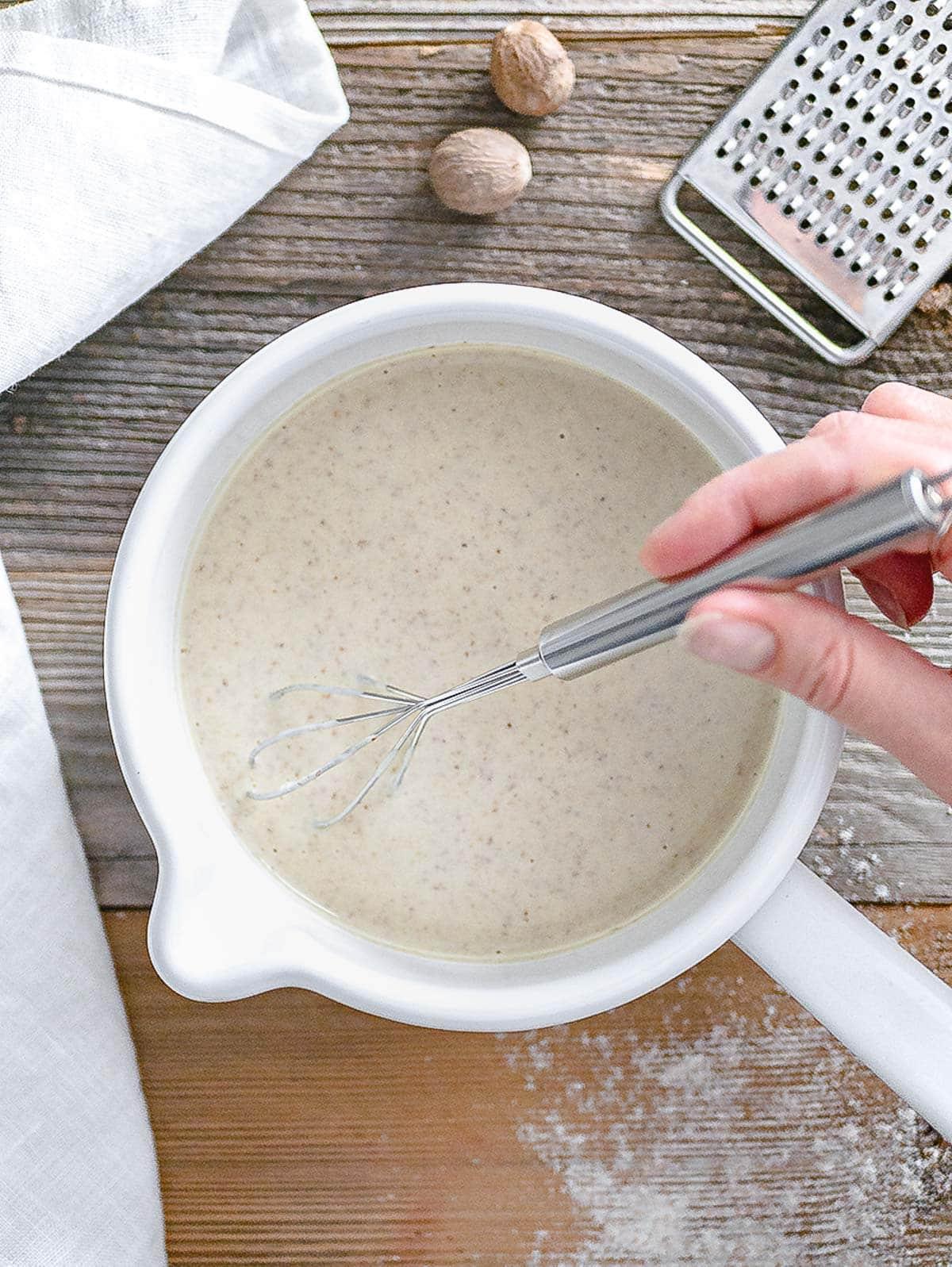 besciamella vegan con farina integrale