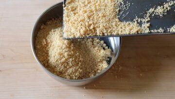 Letting the vegan parmesan dry