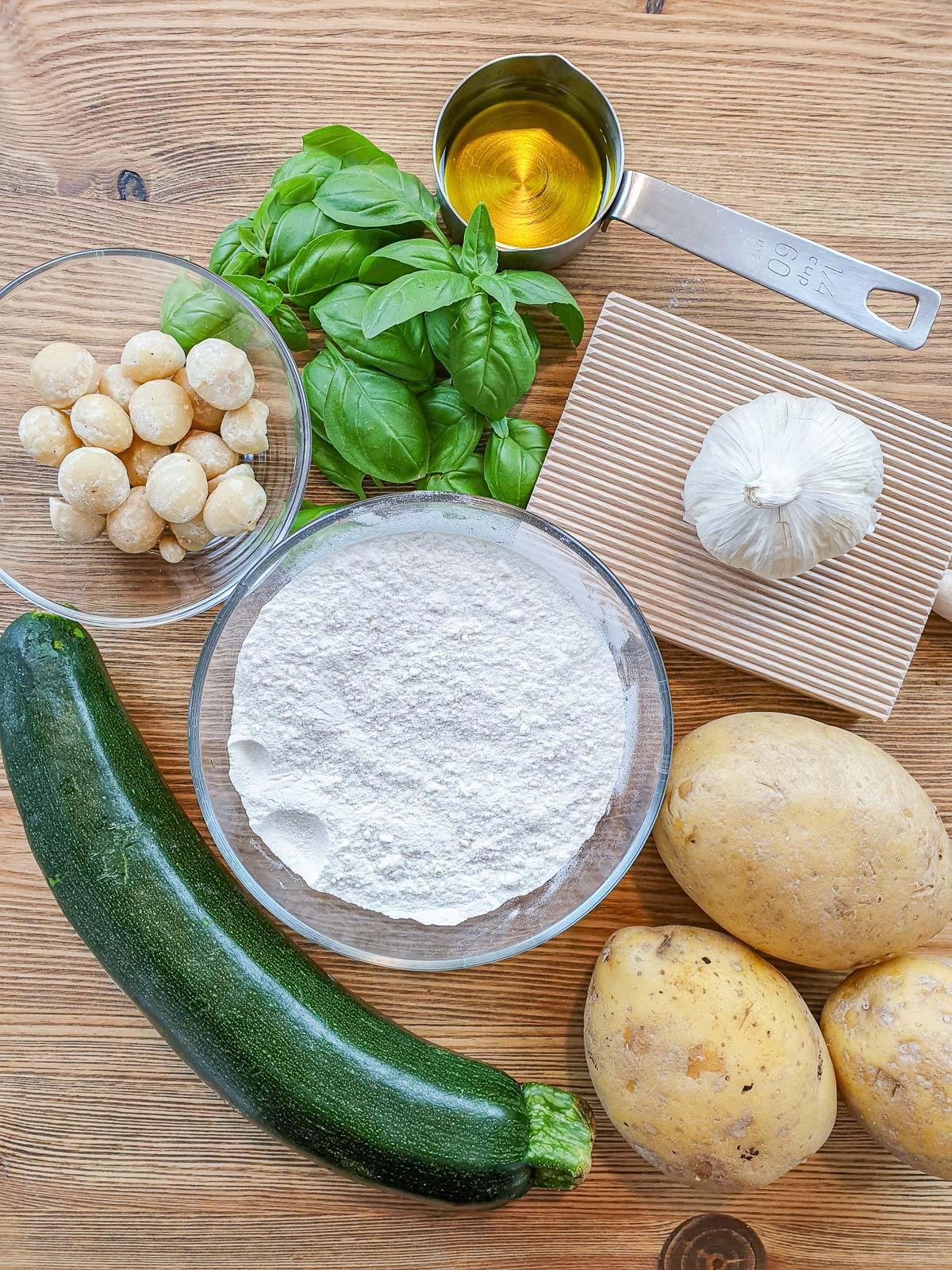 ingredients for gnocchi