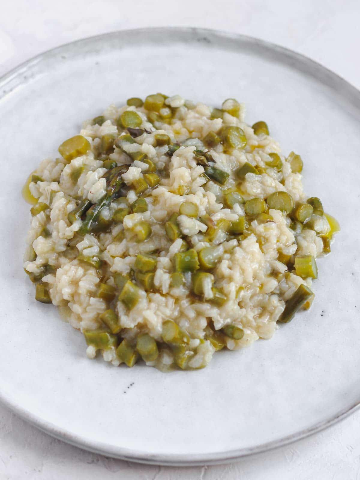 risotto senza burro con gli asparagi