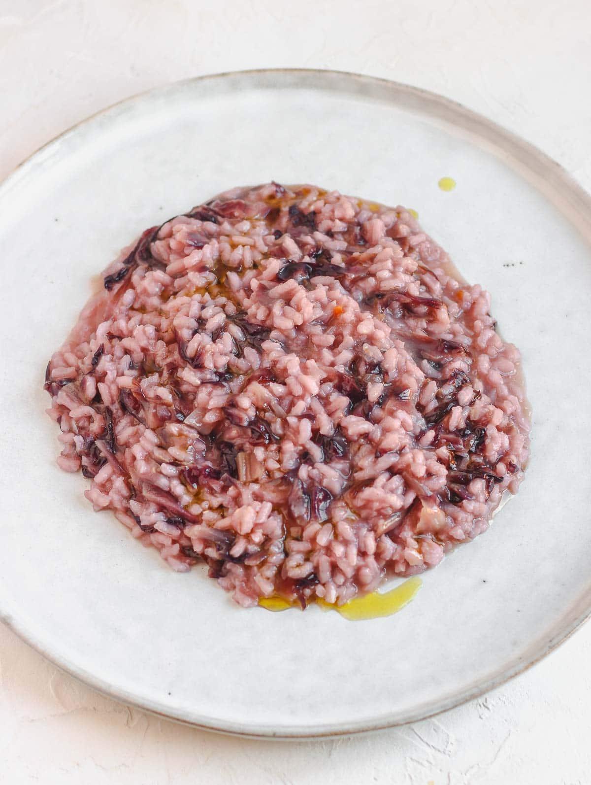 risotto vegano facile al radicchio