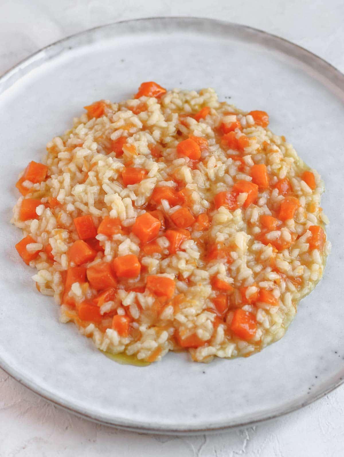 risotto vegano facile alla zucca