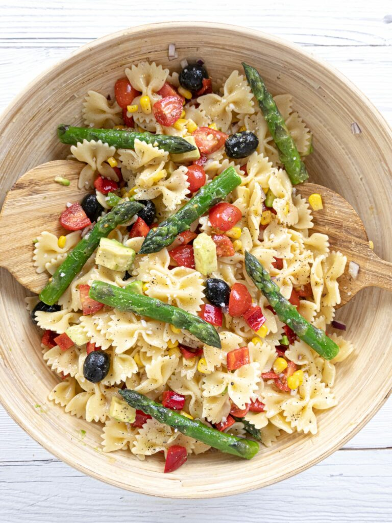 SPRING PASTA SALAD TOP DOWN