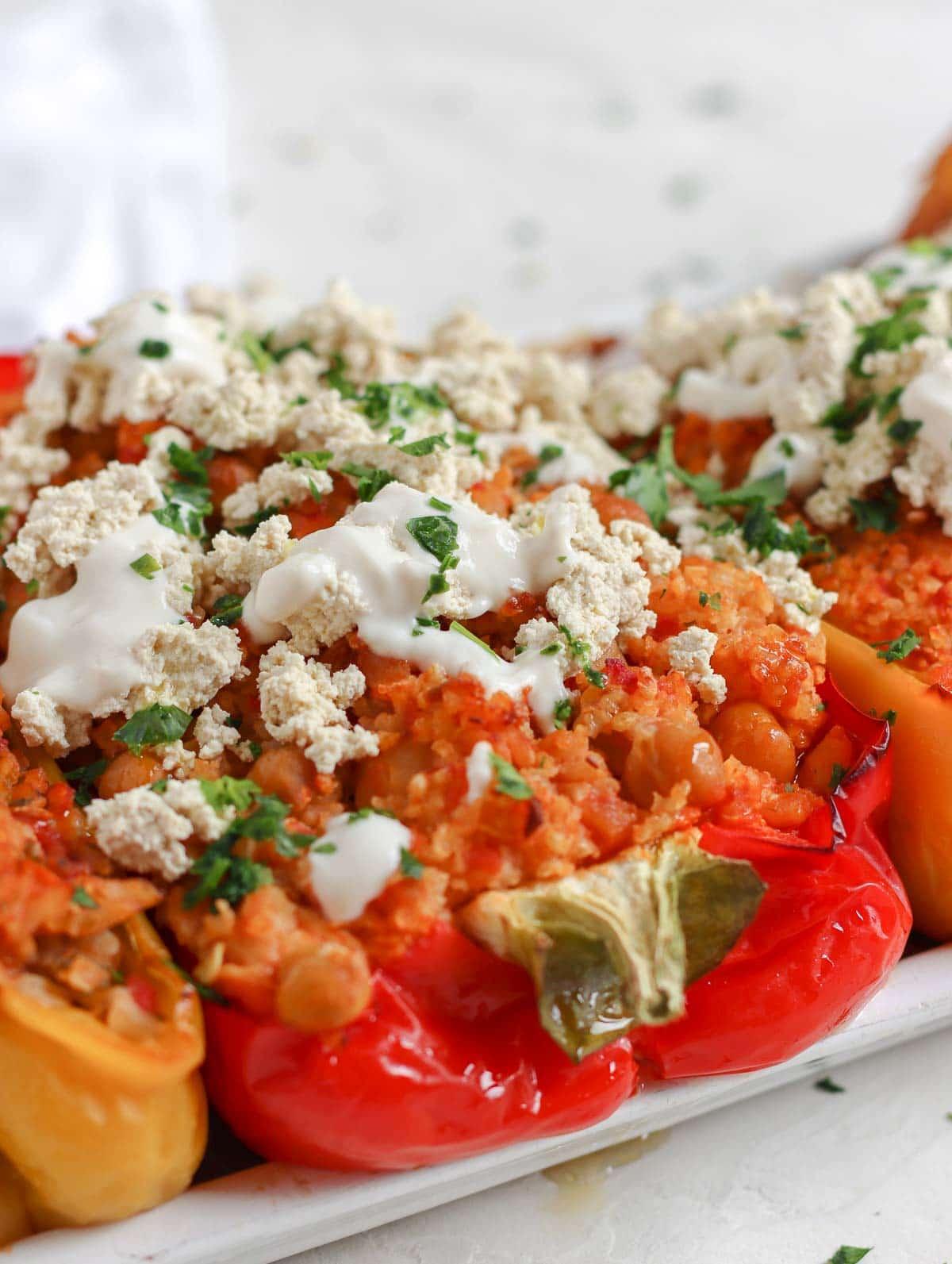 peperoni ripieni veg cotti al forno