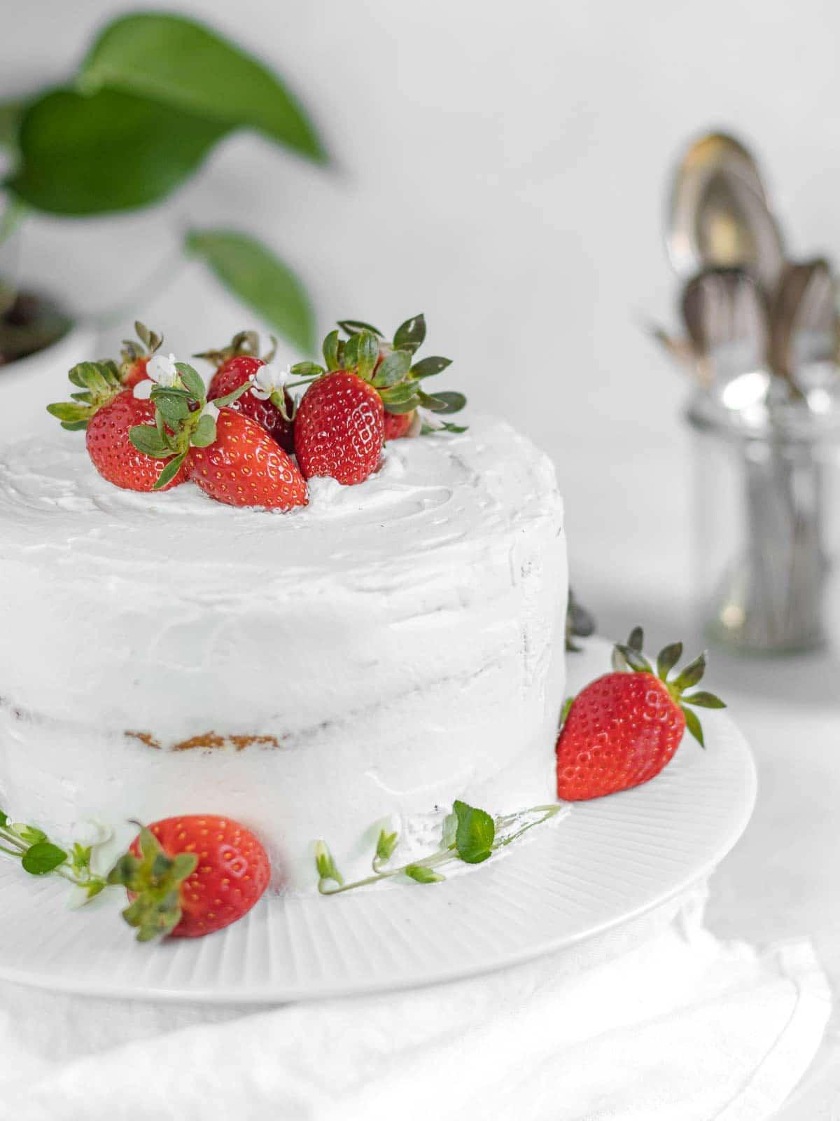 torta alla vaniglia vegan
