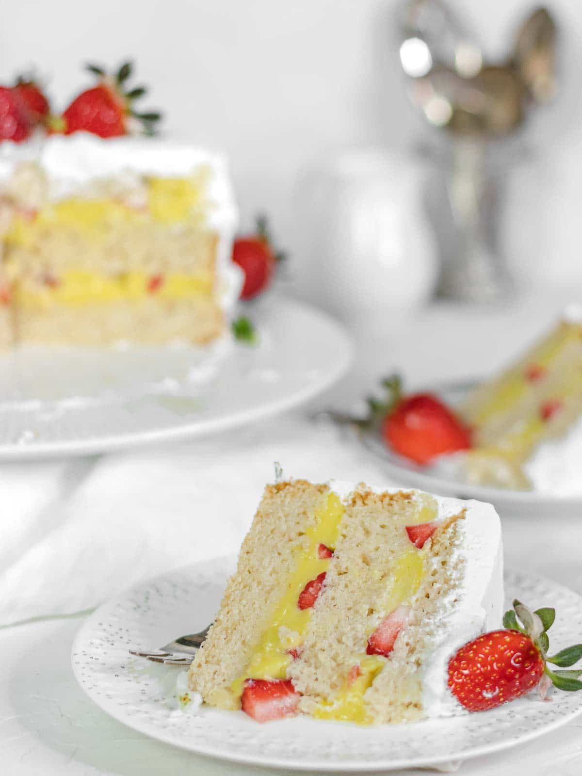 fetta di torta alla vaniglia