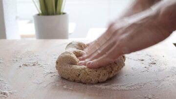 kneading the shortcrust pastry