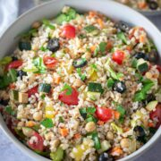 Italian style rice salad card