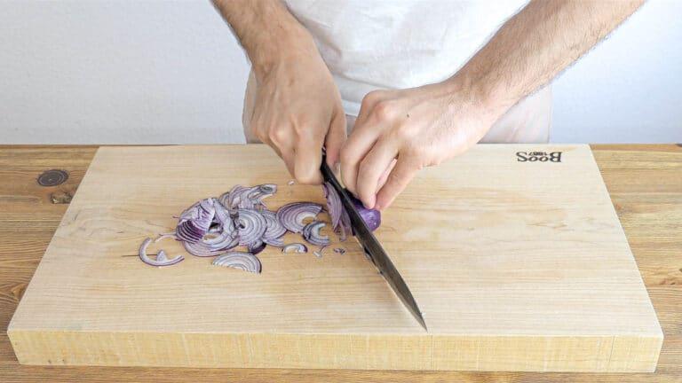 Slicing the onion