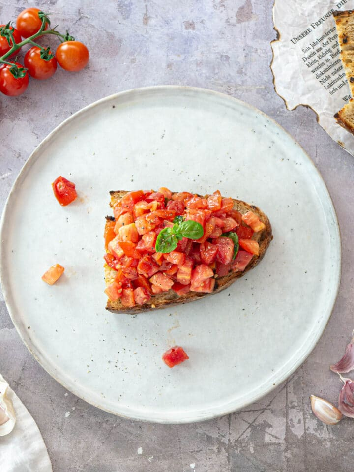 Bruschetta with tomato feature image