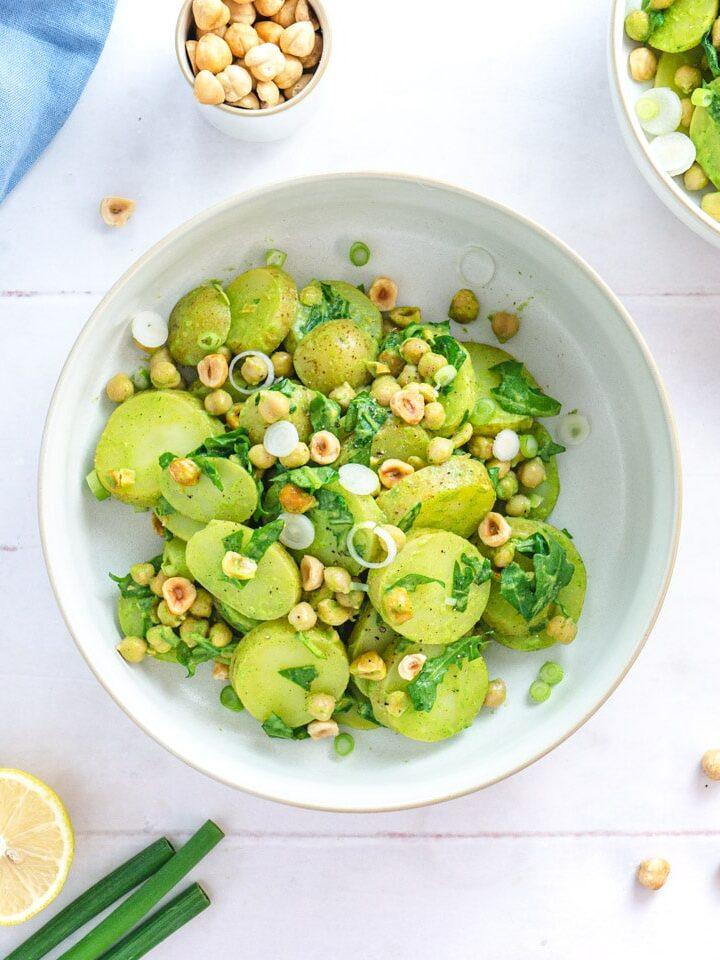 Vegan potato salad Italian style