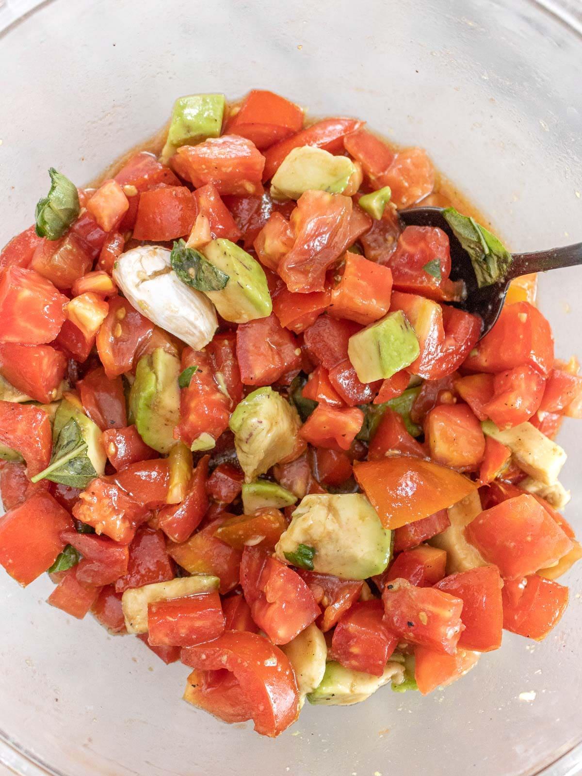tomato avocado mix