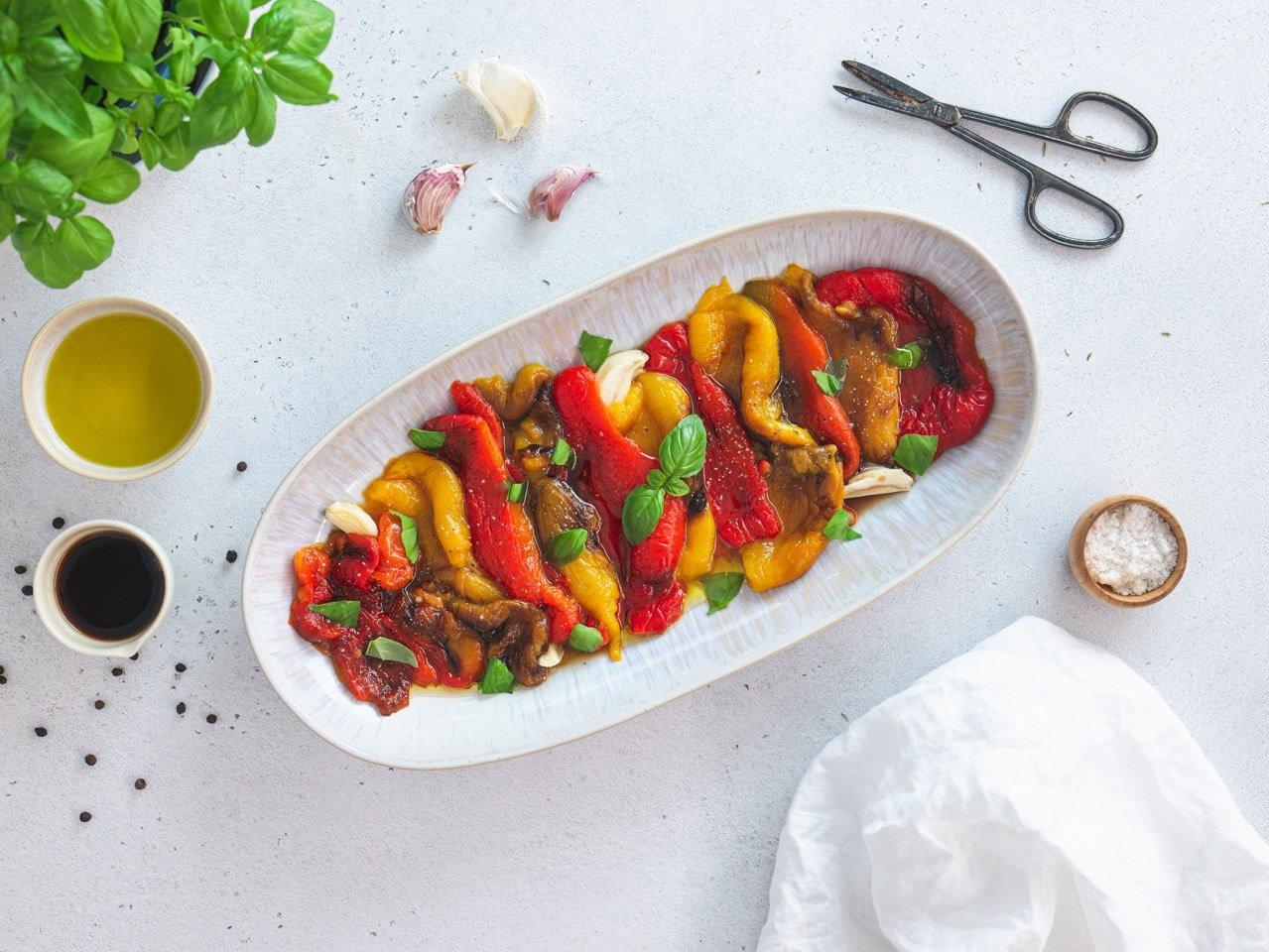 Italian marinated roasted peppers