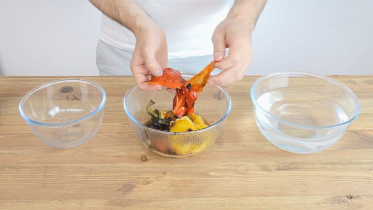 Peel the peppers