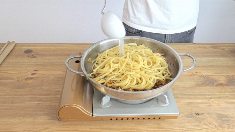 Add pasta to the pan