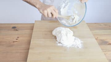 Add the salt and keep mixing