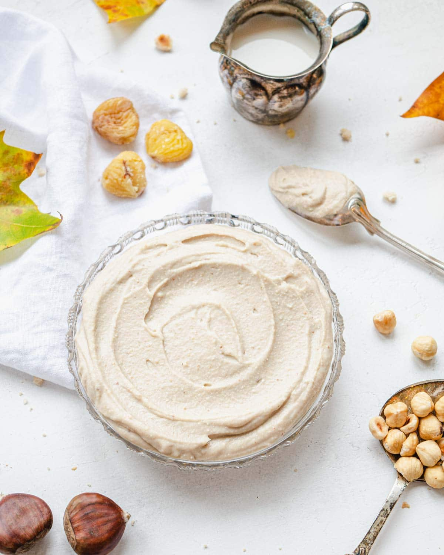Chestnut pesto with hazelnuts