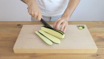 Step-1: cutting the zucchini
