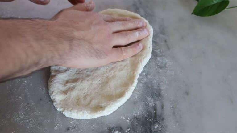 flatbread pizza before cooking