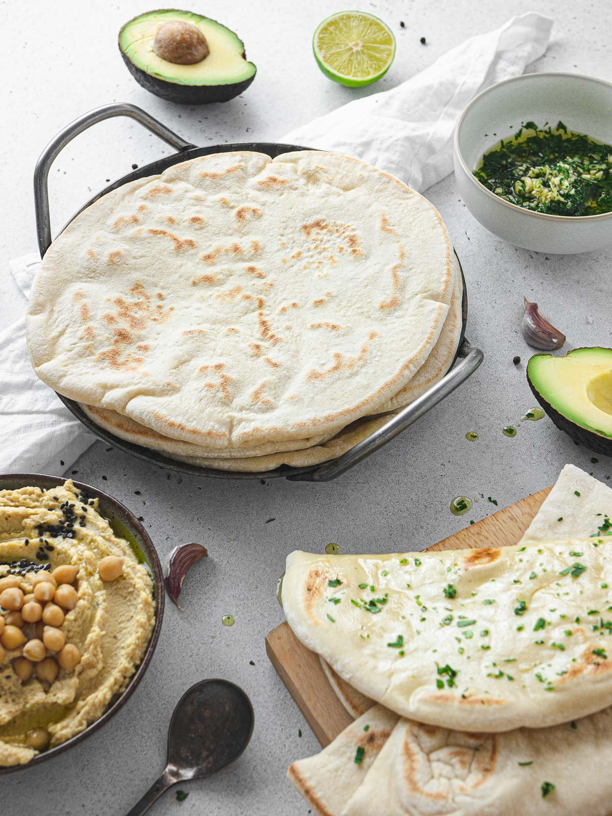 vegan flatbread cooked on a pan