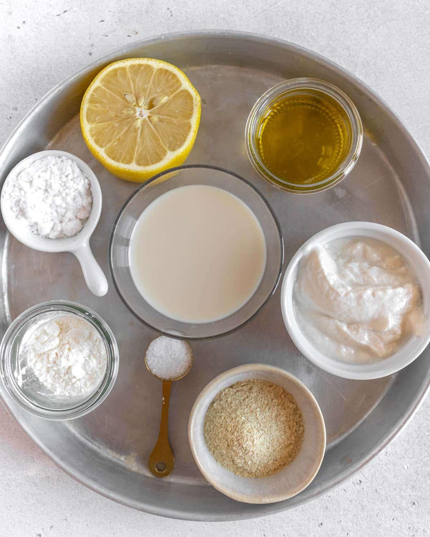 ingredients for vegan cheese recipe