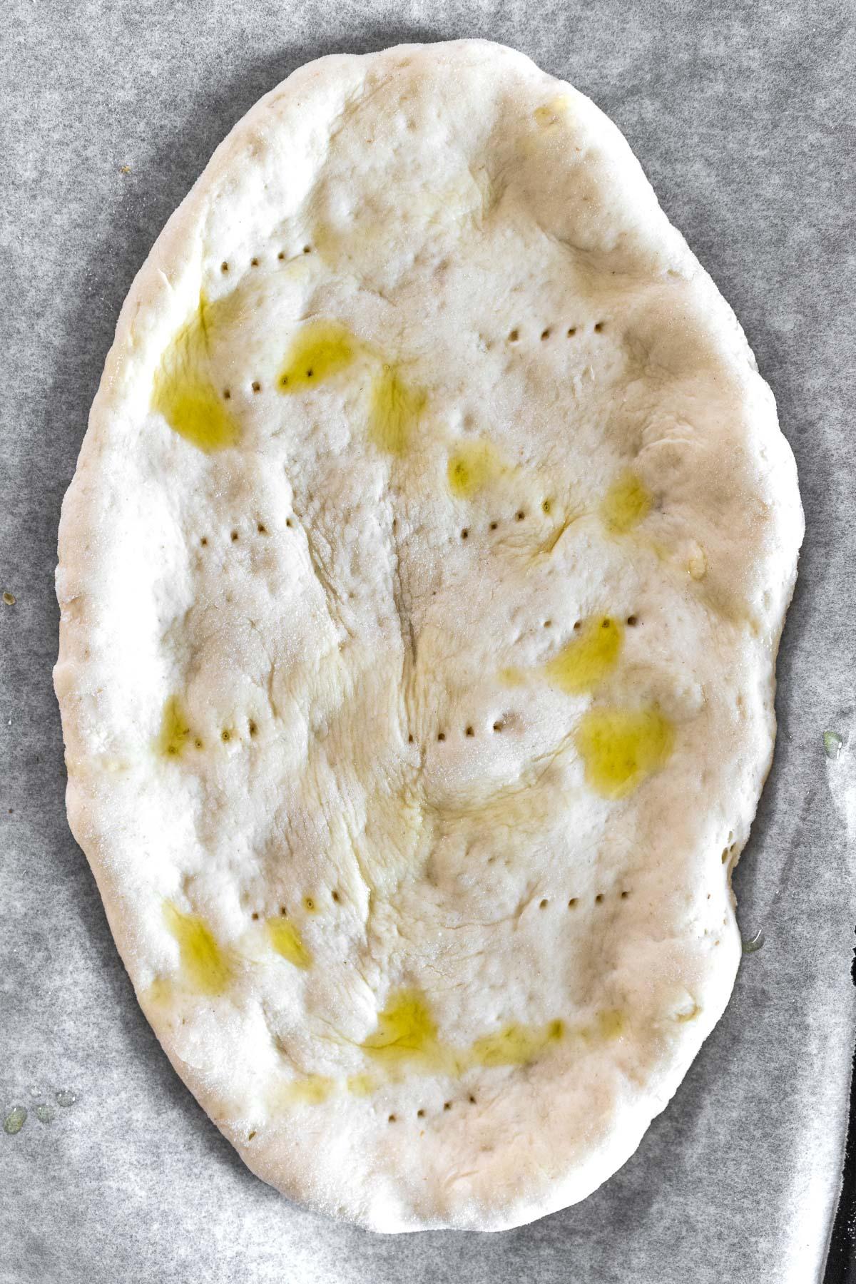 flatbread pizza ready to bake