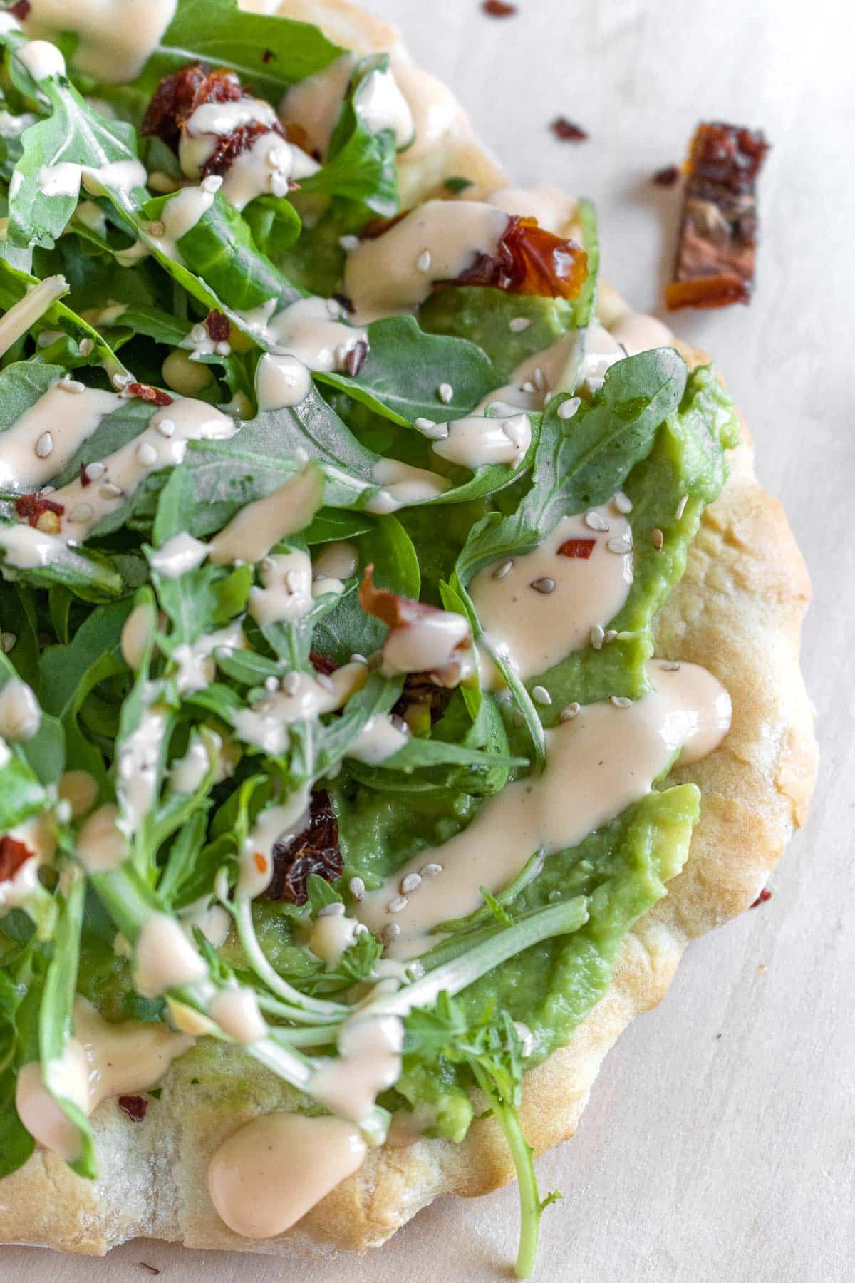 the Californian flatbread pizza