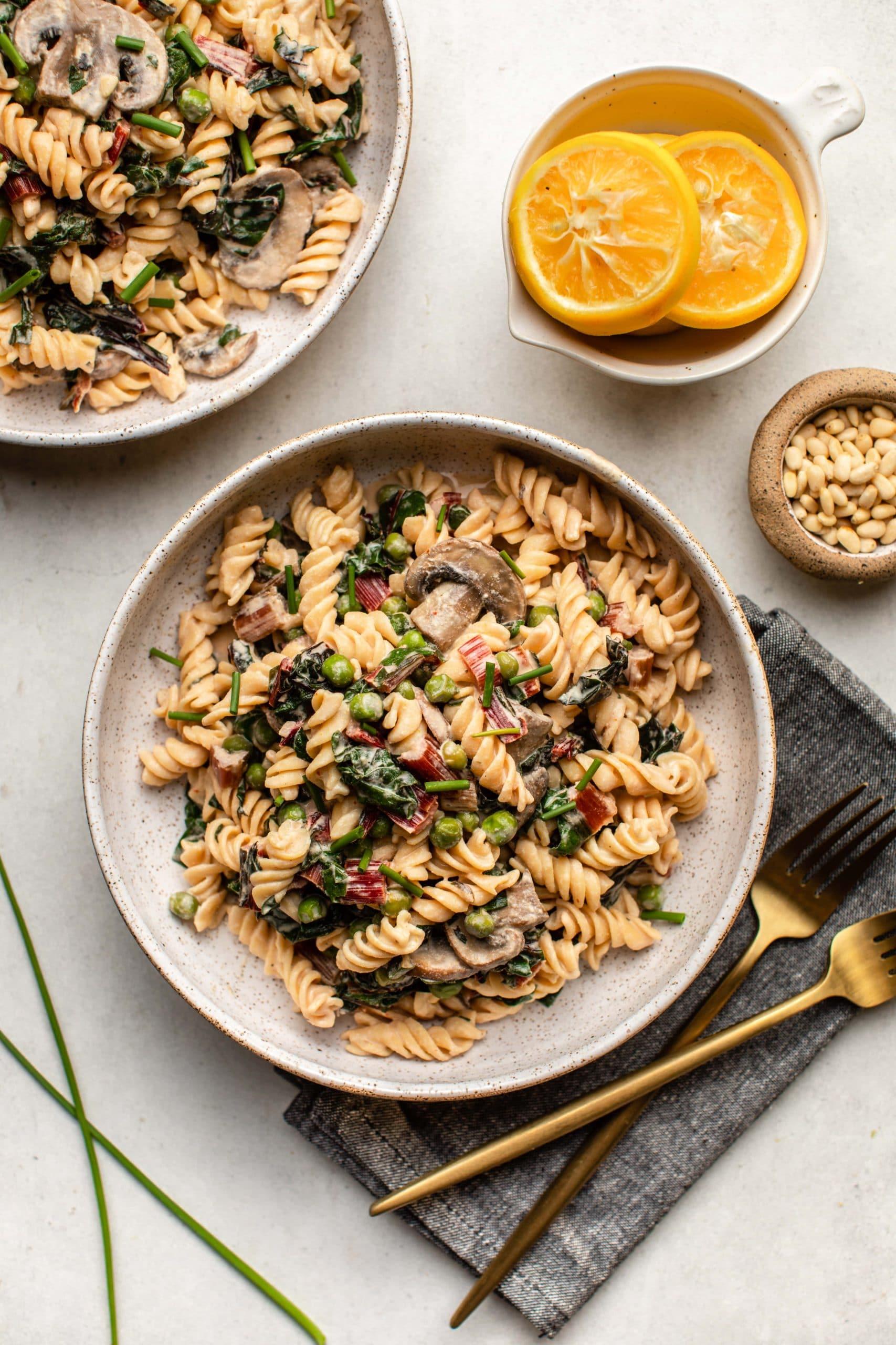 Creamy_Vegan_Lemon_Pasta_Pine_Nuts_Spring_Vegetables-5-scaled
