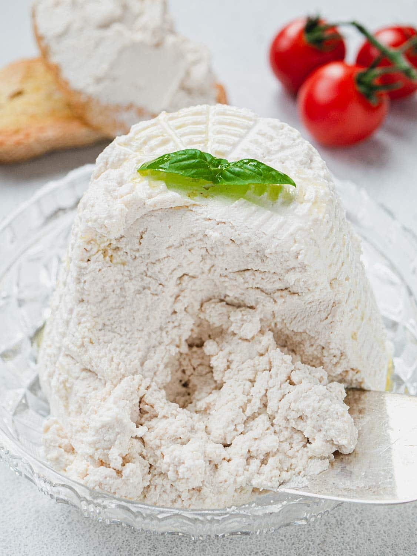 Italian Ricotta made of soy milk