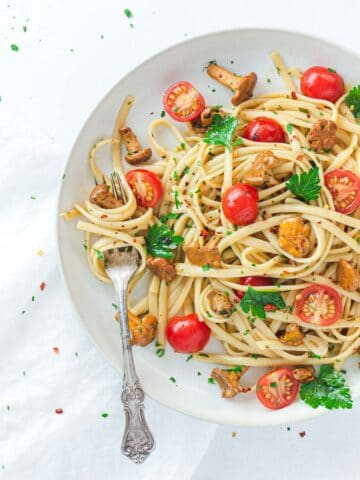 Linguine Pasta on Plate