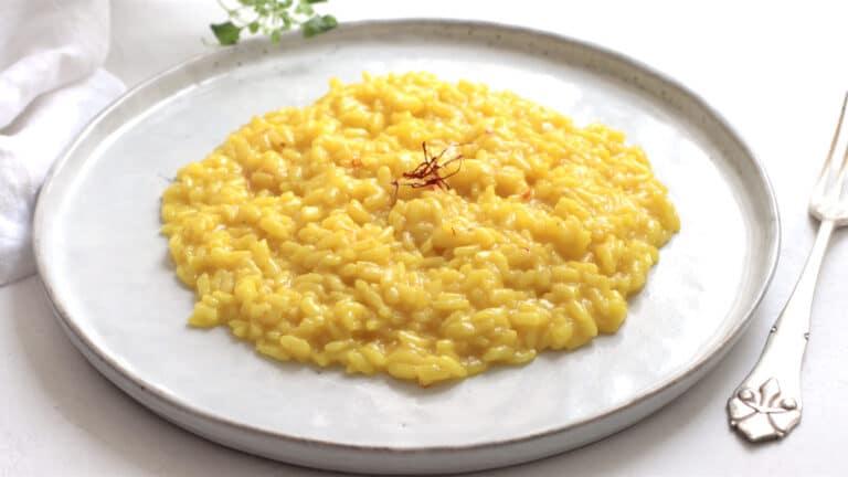 vegan saffron risotto step 12