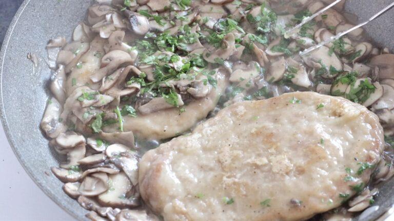 adding the mushrooms