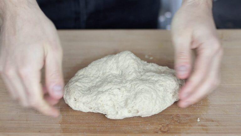 kneading the gluten