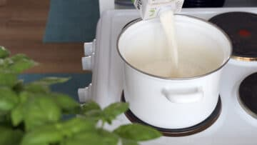 warming up the soy milk