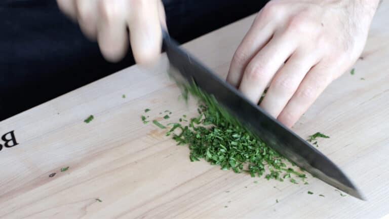 vegan mushrooms scaloppini step 1