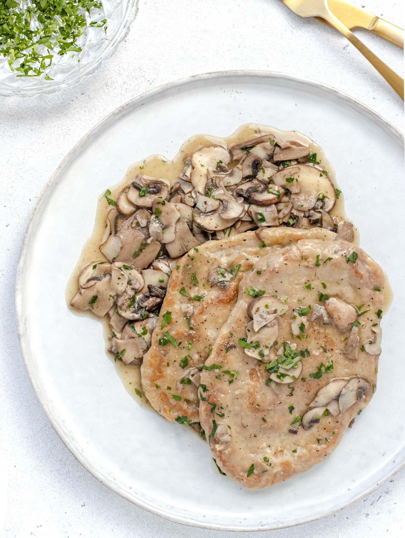 mushroom and white wine scaloppine italian recipe vegan
