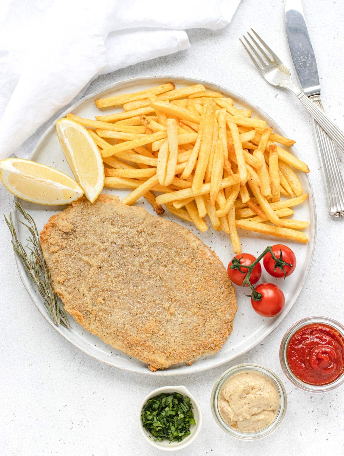 vegan schnitzel deep fried