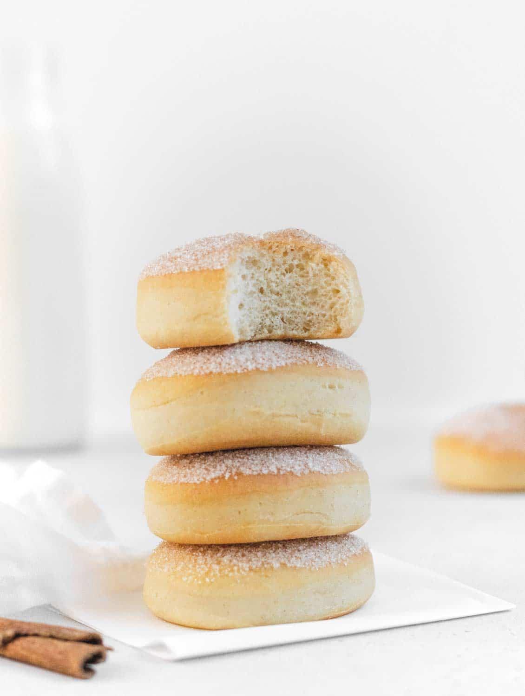 Donuts stack vegan with sugar