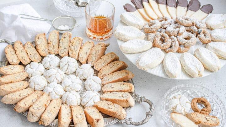 italian cookies platter