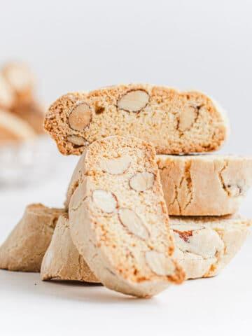 vegan almond biscotti italian cantucci
