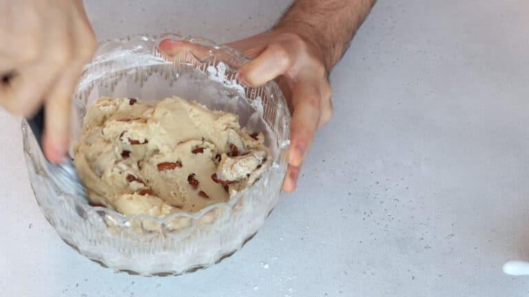 Vegan almond cookies step 3