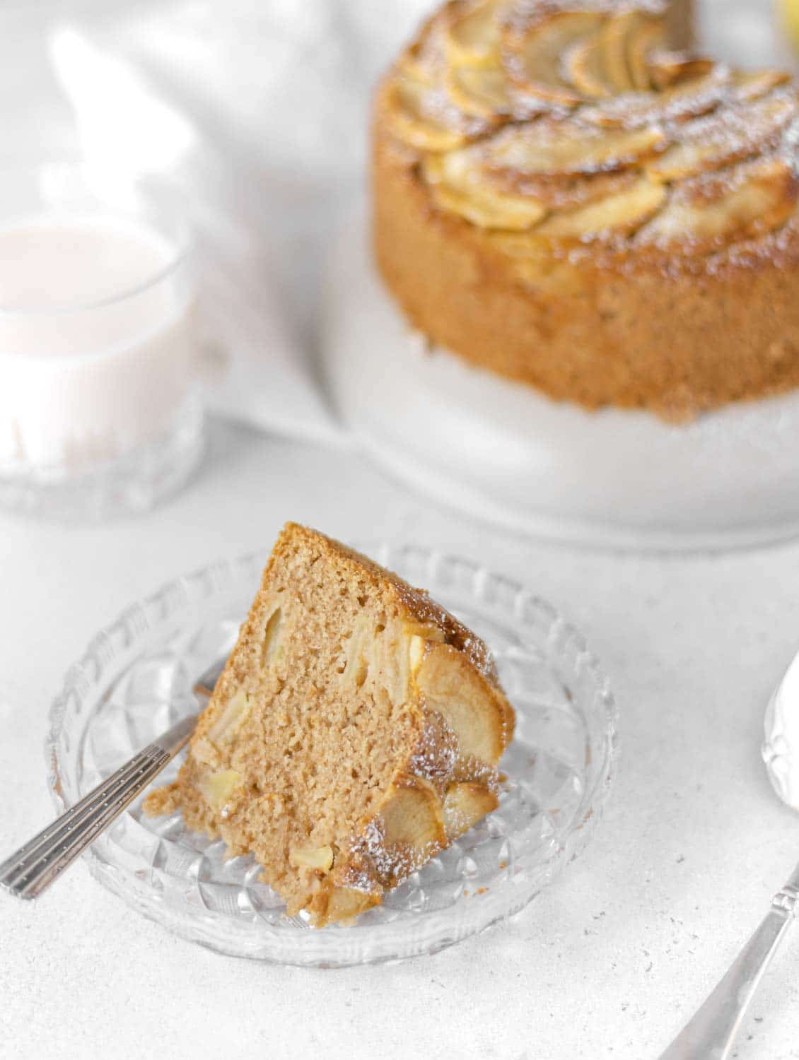 Whole grain Apple Cake slice