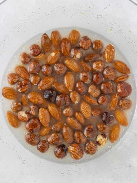 almonds and hazelnuts