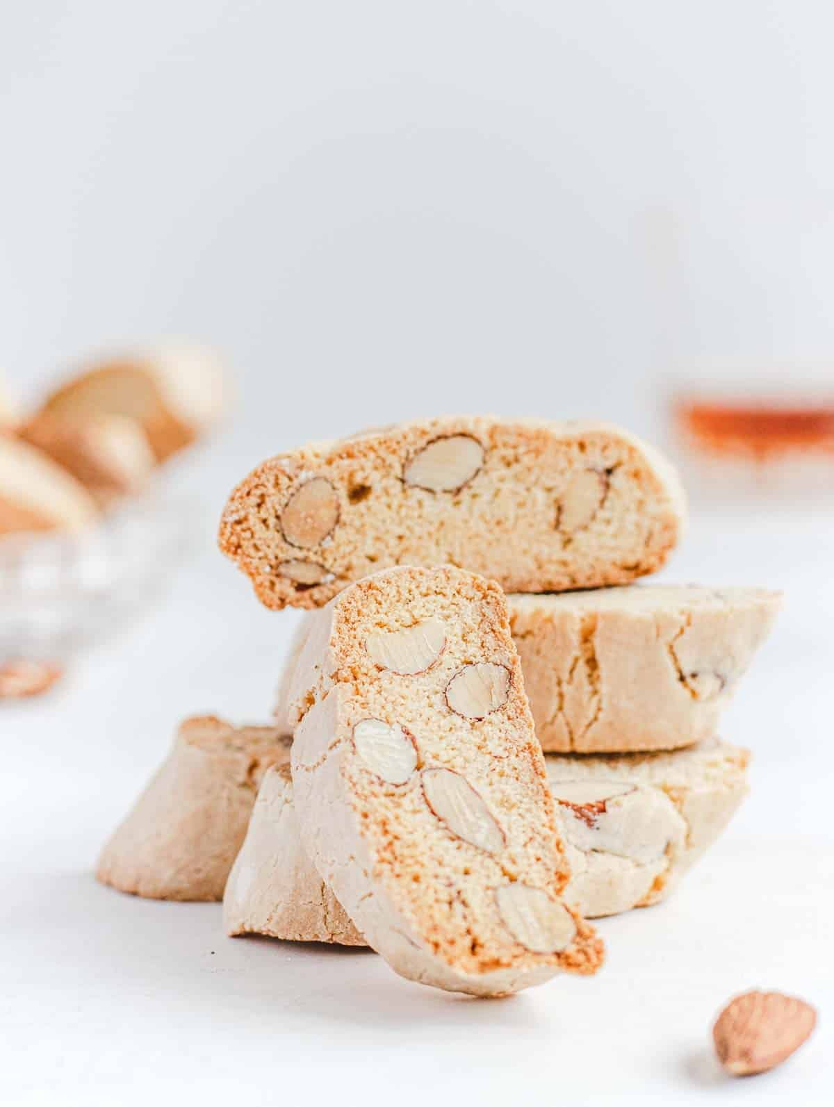 biscotti with almond on a plate