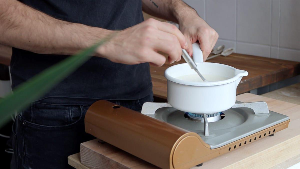 stirring on medium heat