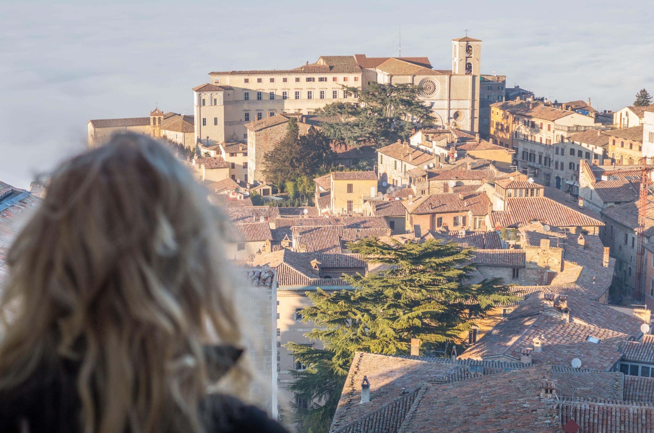 Vista dal campanile di San Fortunato a Todi