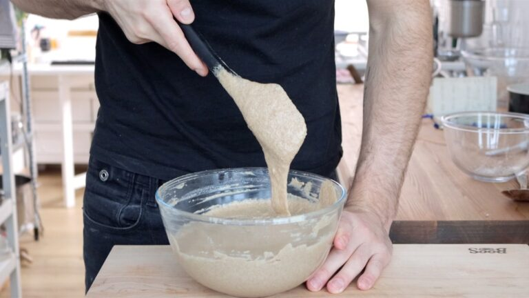 making the cake batter