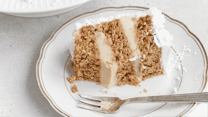 Wholegrain Vegan Sponge Cake with coconut cream