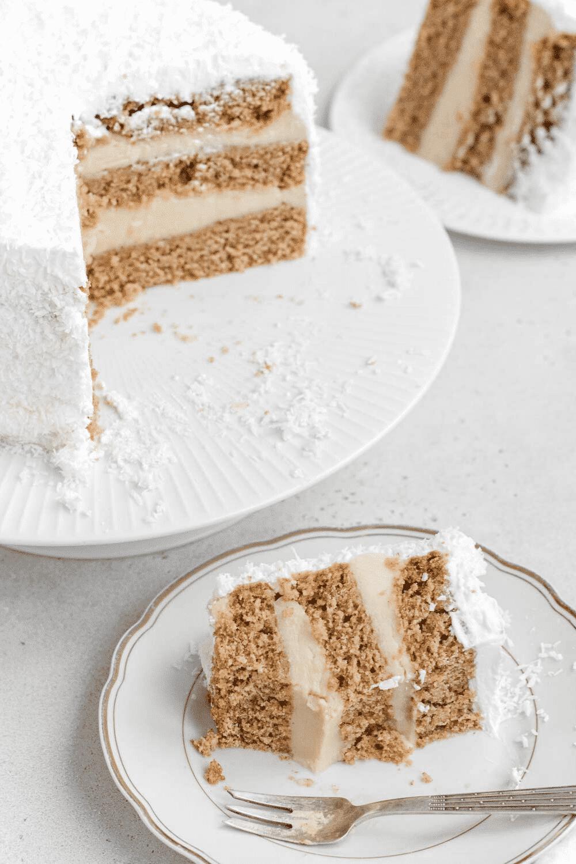 torta di compleanno al cocco